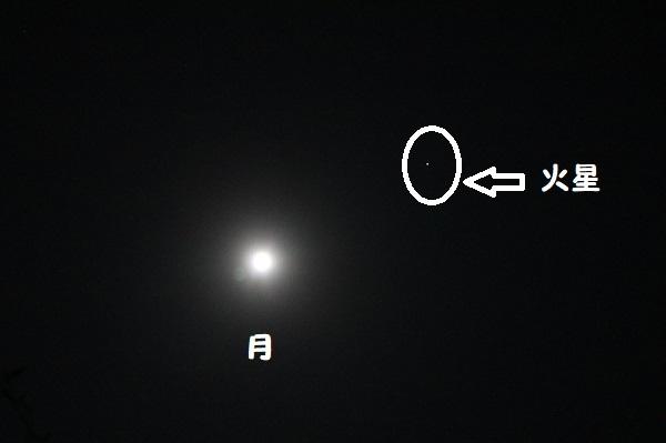 火星と月のランデブー