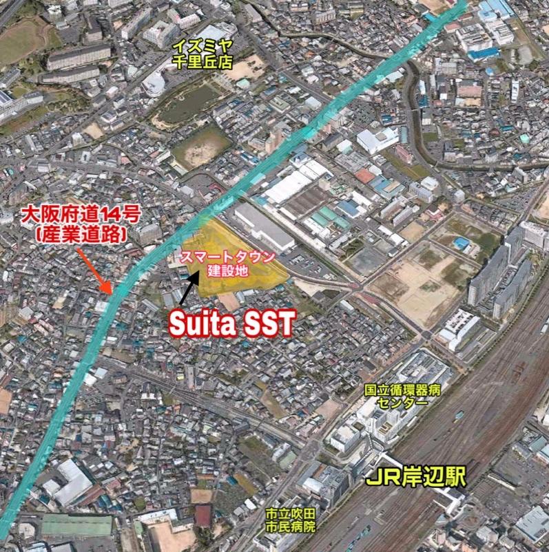 Suita SST地図