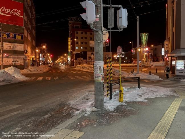 Apple iPhone XS Max 試し撮り(作例) 夜の街 in 北見市