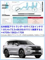新型アウトランダーガソリン(北米版)2022サイズ比較 Mitsubishi outlander 2022 size