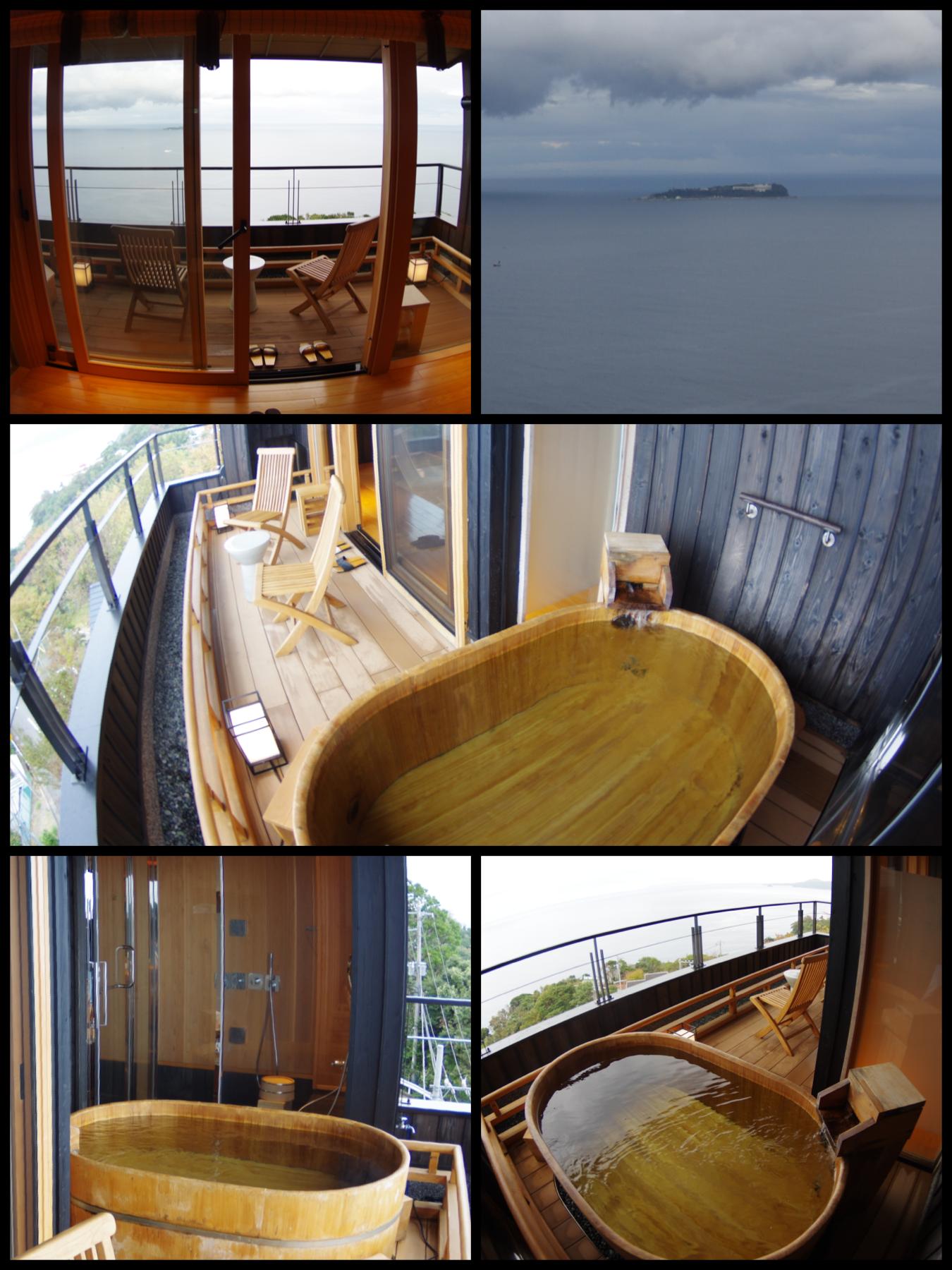 熱海市網代  旅館「山龢〈さんが〉」貴賓館 蒼 露天風呂