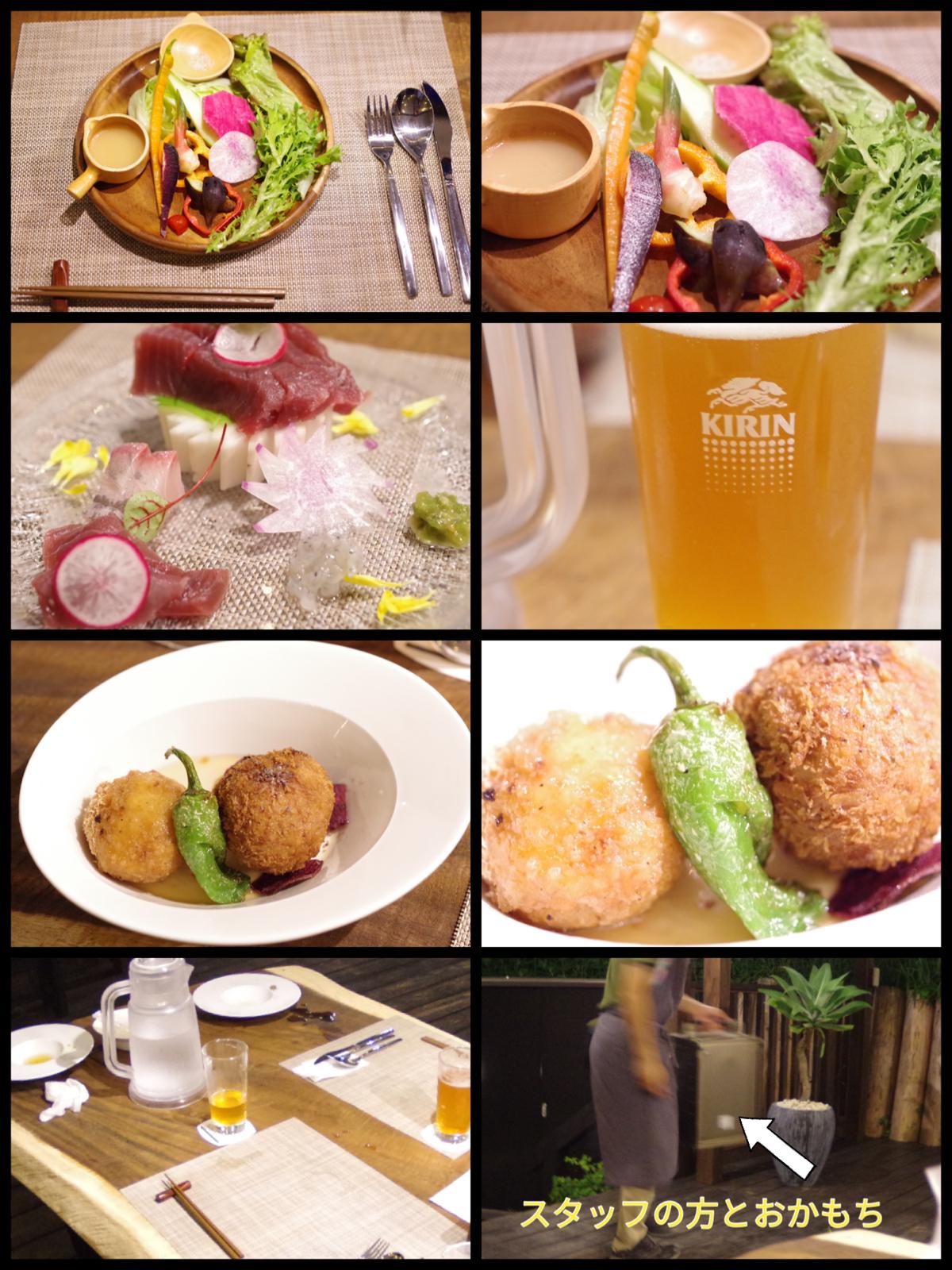 相模原の新グランピング施設「里楽巣(リラックス)FUJINO」RURI夕食