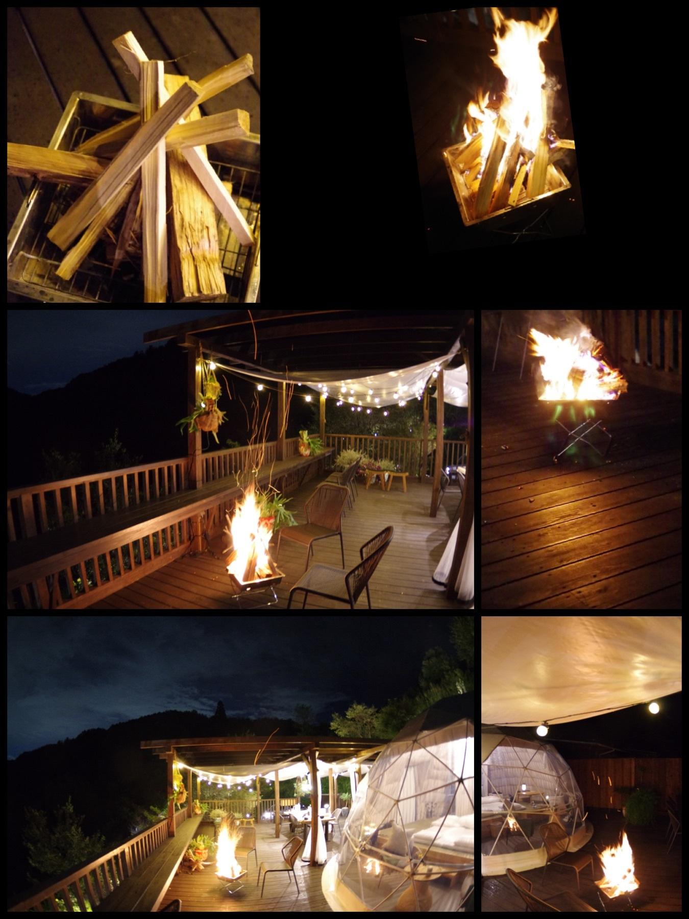 相模原の新グランピング施設「里楽巣(リラックス)FUJINO」RURI焚火
