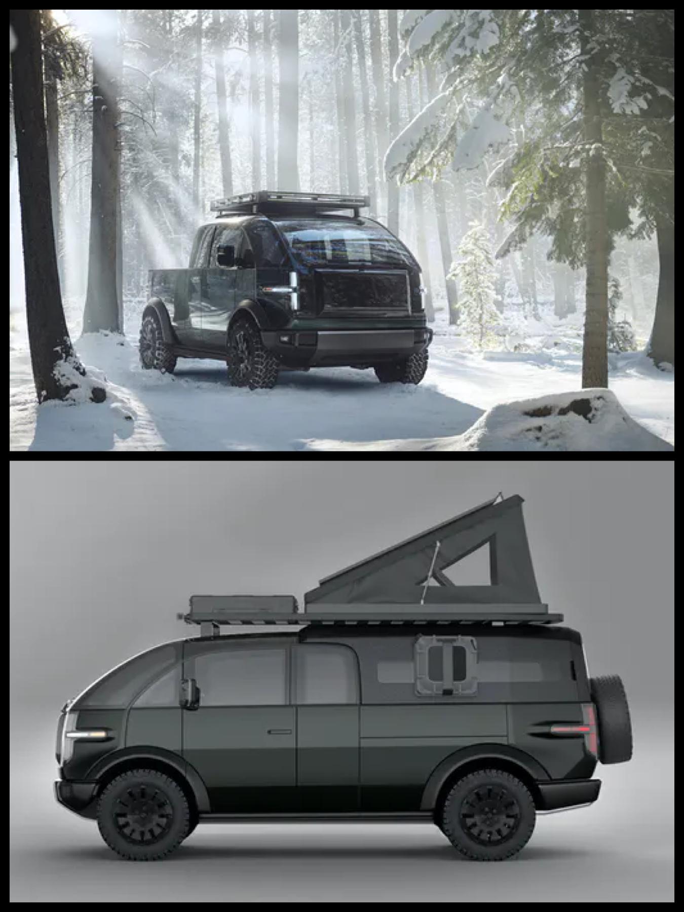 Canoo pickup truck カヌーEV ピックアップトラック