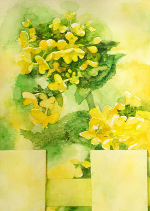 葉の花 マスキングテープ