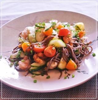 蕎麦salad