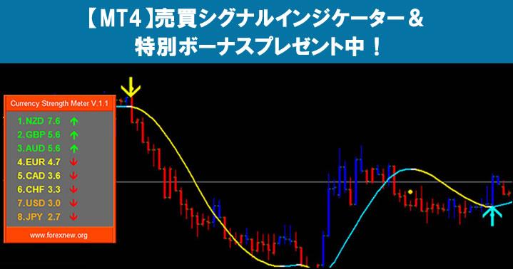 MT4「Arrow Signal」売買シグナルインジケーター