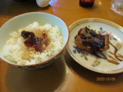 201009エイの煮こごりご飯2