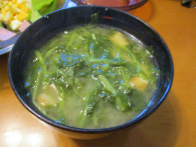 201103大根菜で味噌汁
