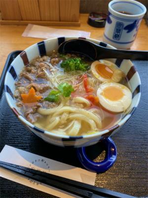 201203安菜蔵の肉玉うどん