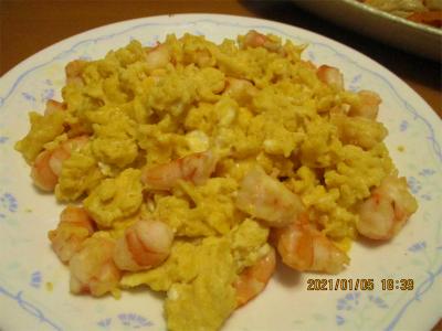 210106エビと卵の炒めも