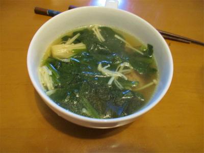 210206ほうれん草と肉団子のスープ