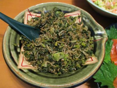 210215大根菜とジャコ煮