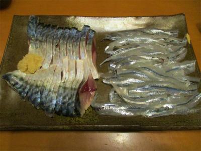 210306しめ鯖とサヨリの刺身