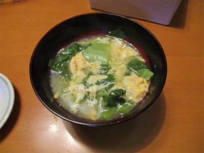 210306高菜の味噌汁