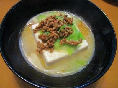 210308豆腐の白湯スープ浸し