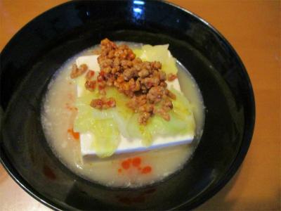 210313豆腐の白湯スープ浸し