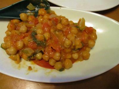 210315ヒヨコ豆のトマトソース煮