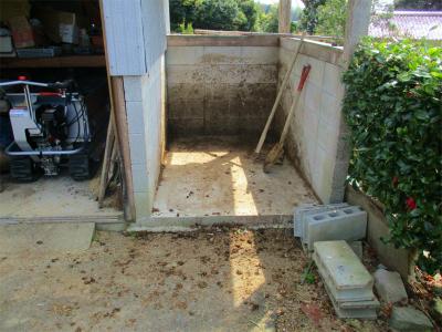 210409堆肥小屋は空っぽに