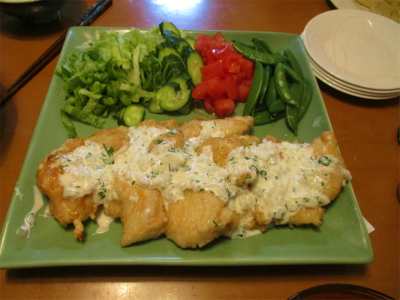 210417チキン南蛮と野菜盛り