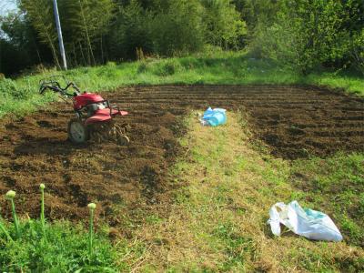 210420トマト予定地も土づくり