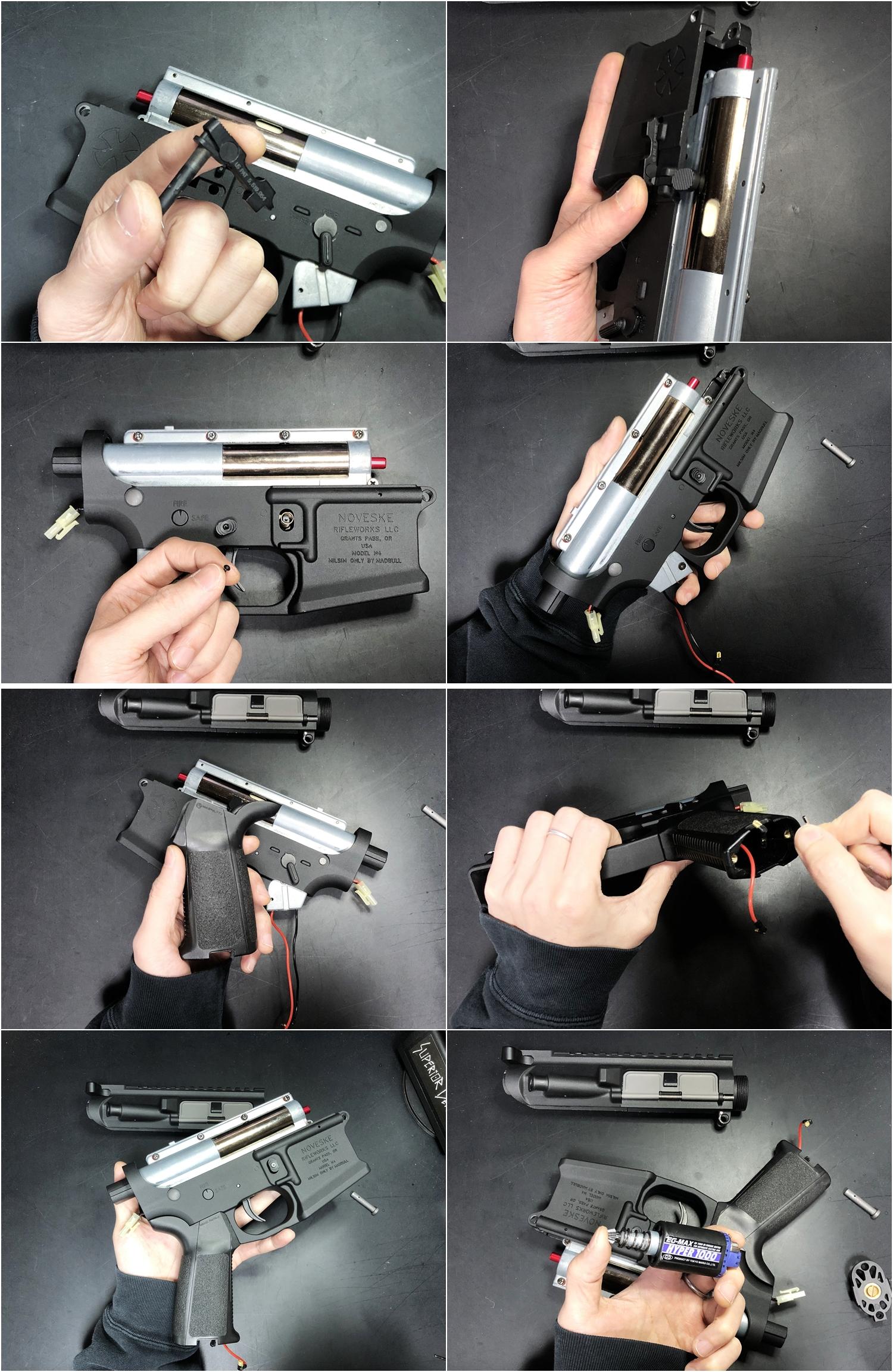 14 NOVESKE GEN3 N4 BY MADBULL!! 『第一弾』 新たにSTD民間系ARを作り始めたいと思います!! STD AR-15 M4 スタンダード 電動ガン マルイ ノベスケ ノベスキー マットブル メタルフレーム 動作テスト 組込 取付 カス