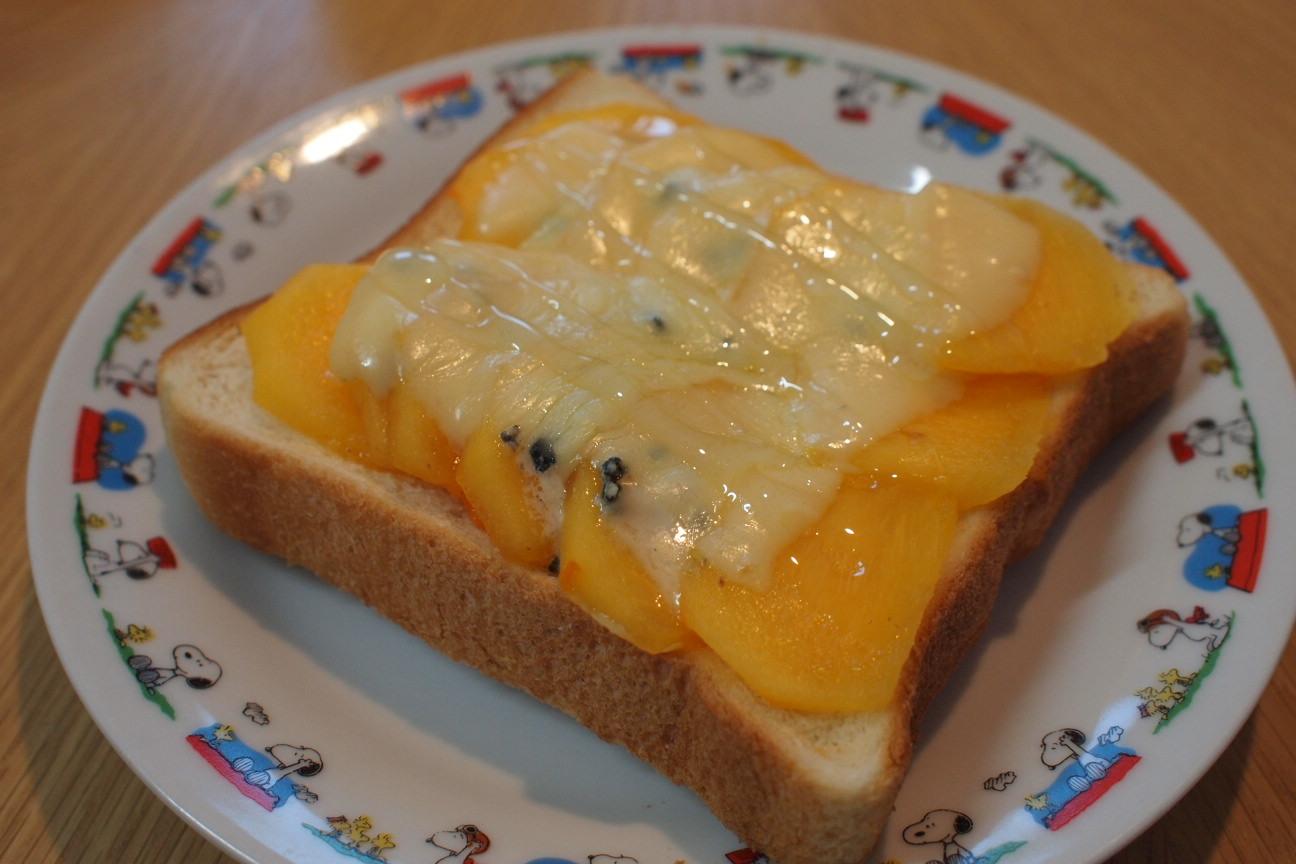 柿とブルーチーズのトースト!