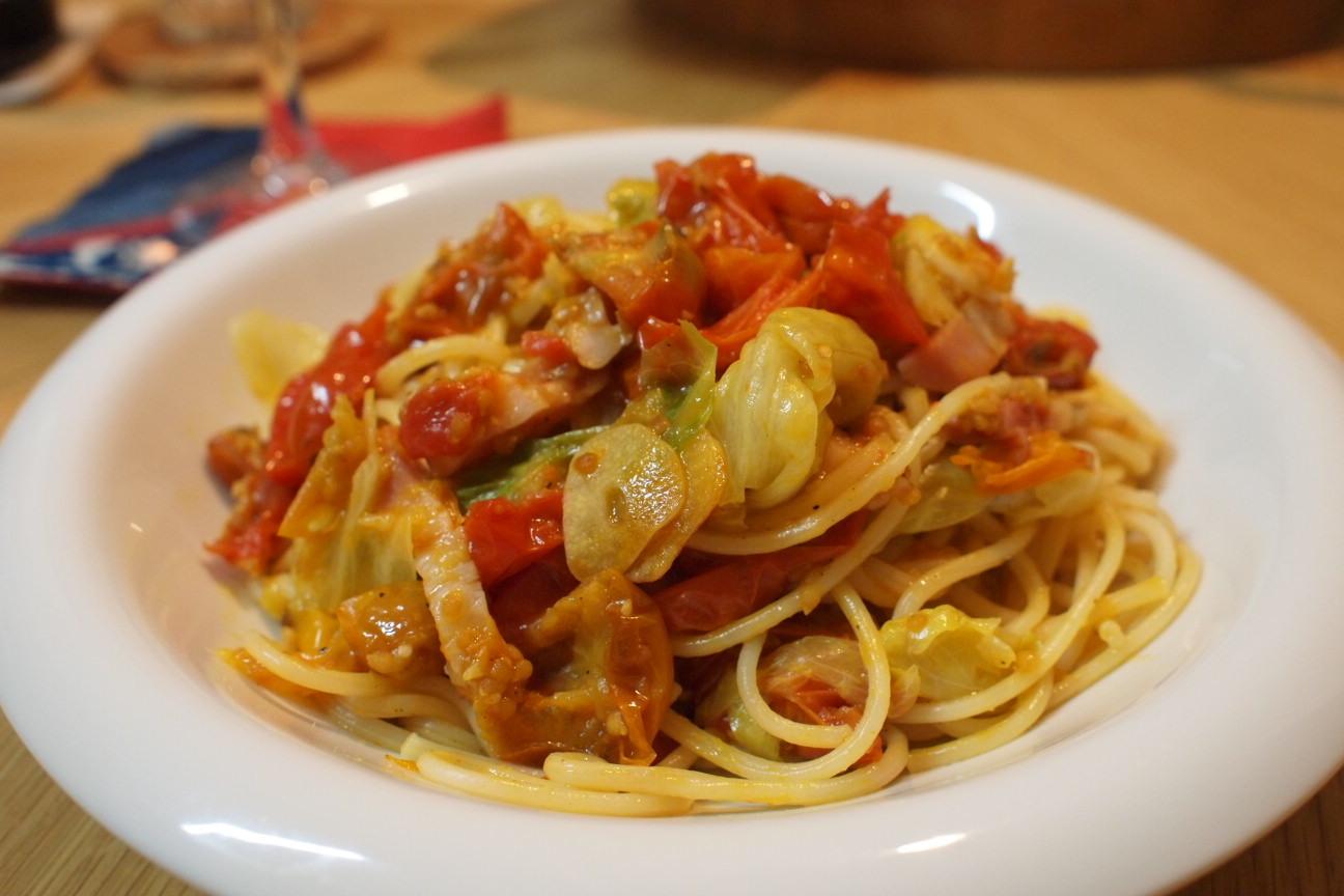 ルルロッソのドライミニトマトパスタ!