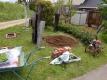 レンガ花壇①