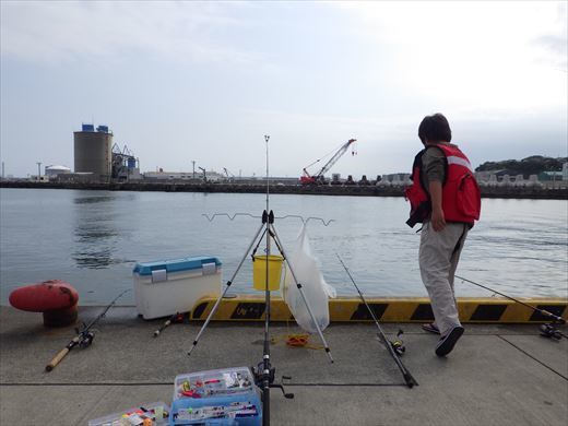 久慈漁港で釣り (5)