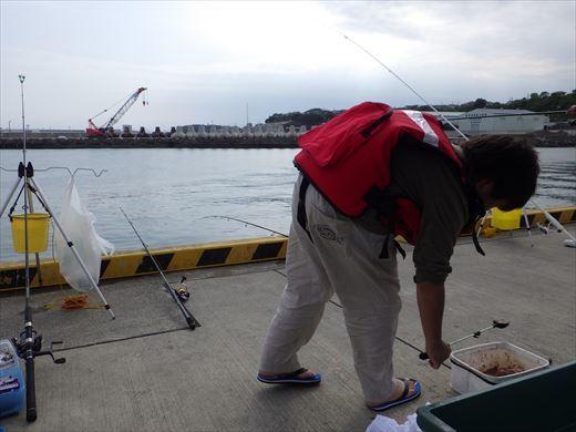久慈漁港で釣り (4)