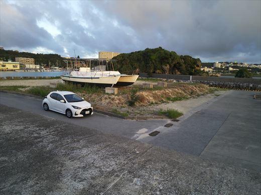 前兼久漁港 釣り場の下見 (4)