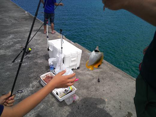与那原マリーナで釣り (3)