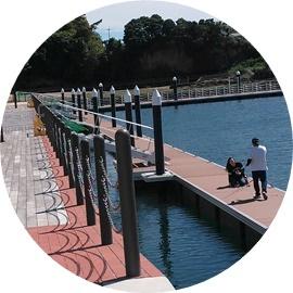 18 再建された岸壁と桟橋