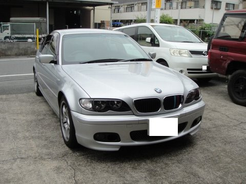 BMW E46のエアコン修理作業