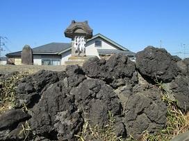富士塚頂上2021.2
