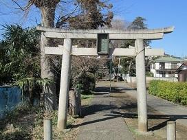 富士塚鳥居2021.2