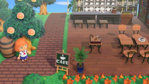 あつ森、カフェ