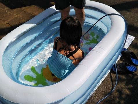 今年も庭プール