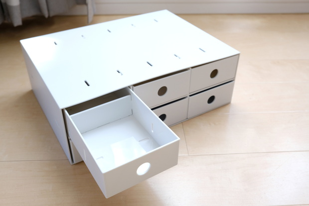 無印・ポリプロピレン 小物収納ボックス・6段・ホワイトグレー③